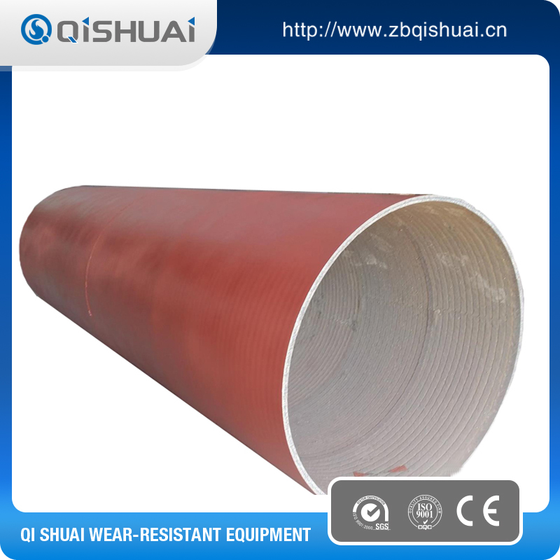 Wearing resistant solution lining bend for pipe