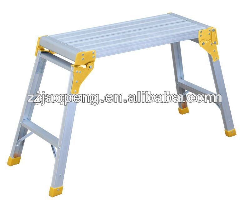 Aluminum Working Platform Yellow Colored Stools AP-801