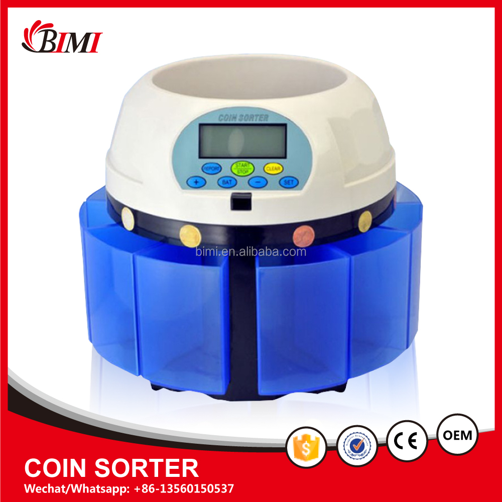 auto euro coin sorter and manual coin counter