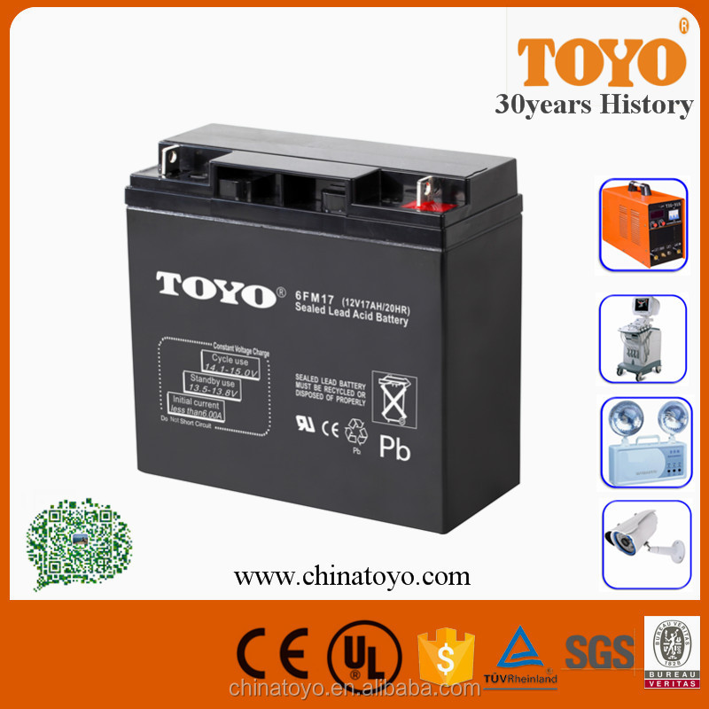 12V 17AH SLA Battery for UPS, Alarm, Access Control, Emergency systems AGM Battery
