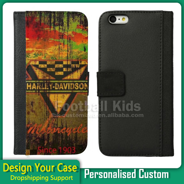 Mobile Phone Accessories Custom Leather Wallet Case 2D Sublimation Flip Leather Case Cover For iPhone 6