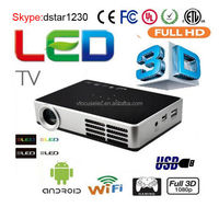 Mini DLP Digital 3D Android Portable Projector 1080P HD Home Cinema LED Projector