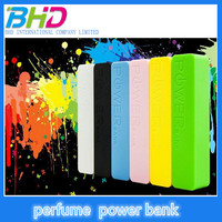 2015 universal Best selling mini power bank USB portable charger external perfume Power Bank 2600mah for mobile phone