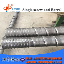 Plastic & Rubber Extruder Screw Barrel / plastic extruder spare parts