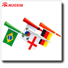 NX FLAG cheap price customized printed logo horn flag for football fans cheer
