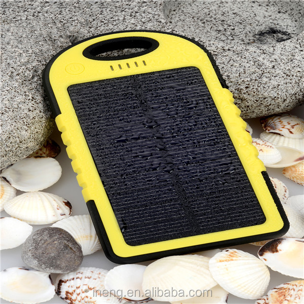 Portable charger Solar Power Bank 5000mah Portable External Battery Charger For Mobile