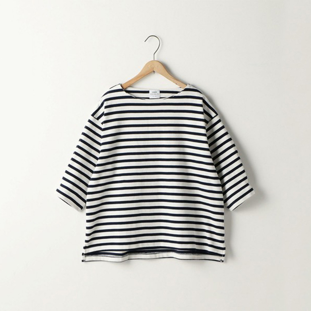Girls Striped Pattern Black and White Striped Style Top Tshirt
