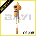 construction equipments electric chain hoist with double braking system
