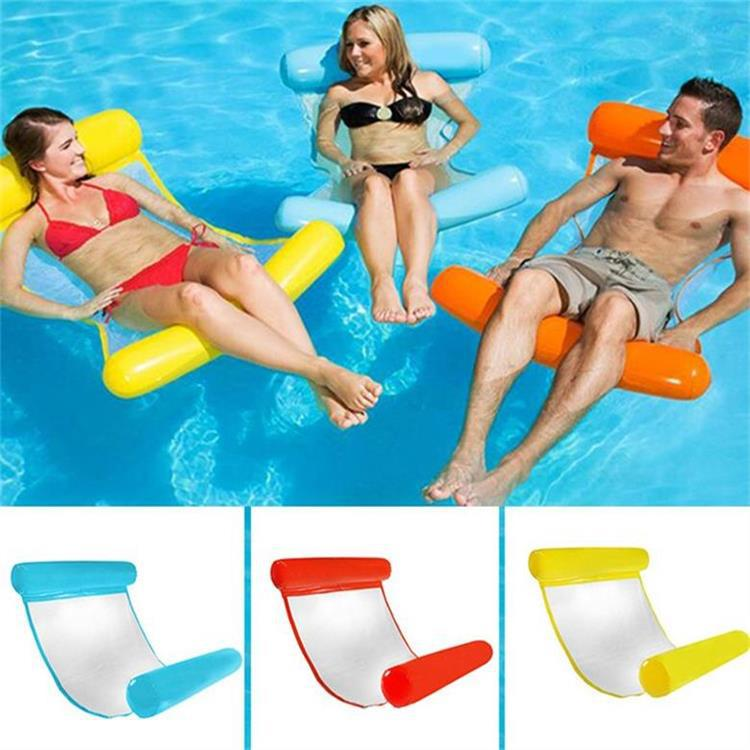 Actearlier 2018 Newest Korean Design Swimming Inflatable Confortable Pool Floating Bed Colorful Air Mattress For Swimming