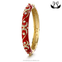 Fashion jewelry manual Retro Gorgeous gold-plated Diamond Bracelet antique reproduction jewelry