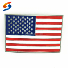 Promotional zinc alloy American flag decorative beautiful buckle
