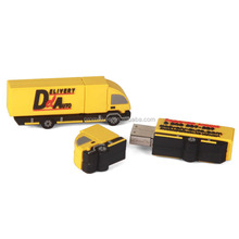 Trade events gift usb drive with truck shape