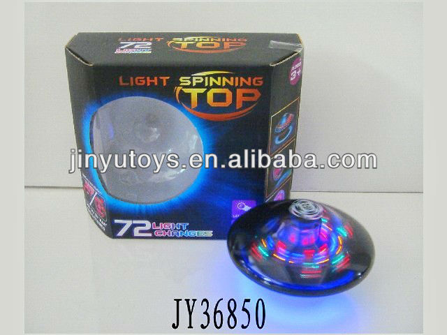 Plastic spinning flash top toy with light and music