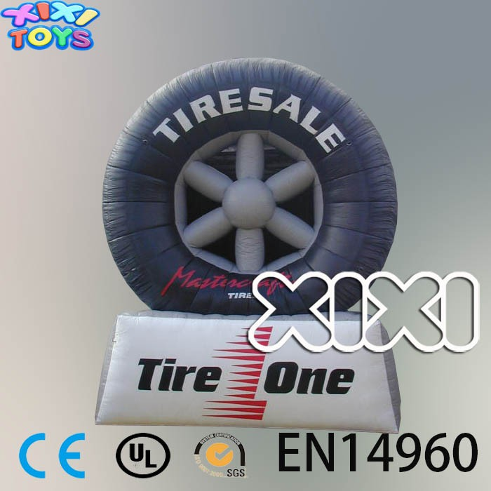 Inflatable Tire Shop Advertisement, Giant Tire Inflatable