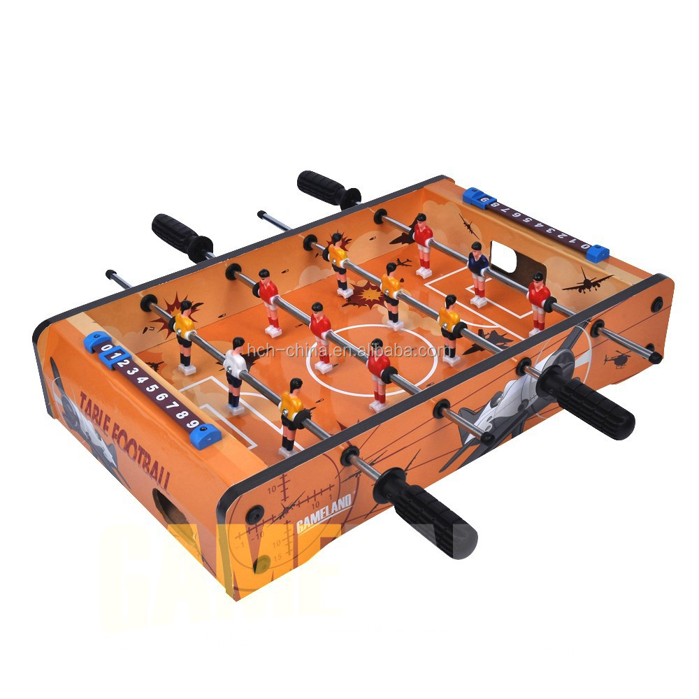Doodle Style Mini Tabletop Foosball Wooden Desktop Table Hand Soccer Game