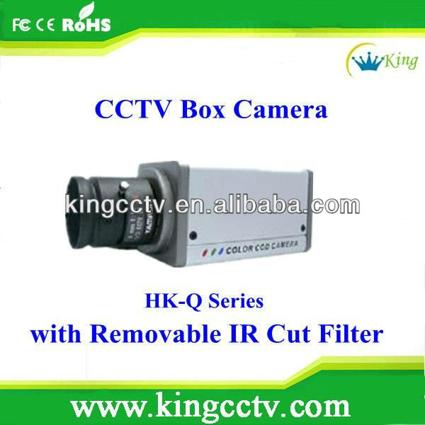 Removable IR Cut Filter HK-Q312 CCD BOX CAMERA