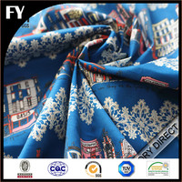 Digital printed cotton stretch sateen fabric for garment