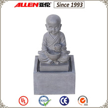 "18.5"" little monk water feature, shaolin monk water fountain, buddhist water fountain"