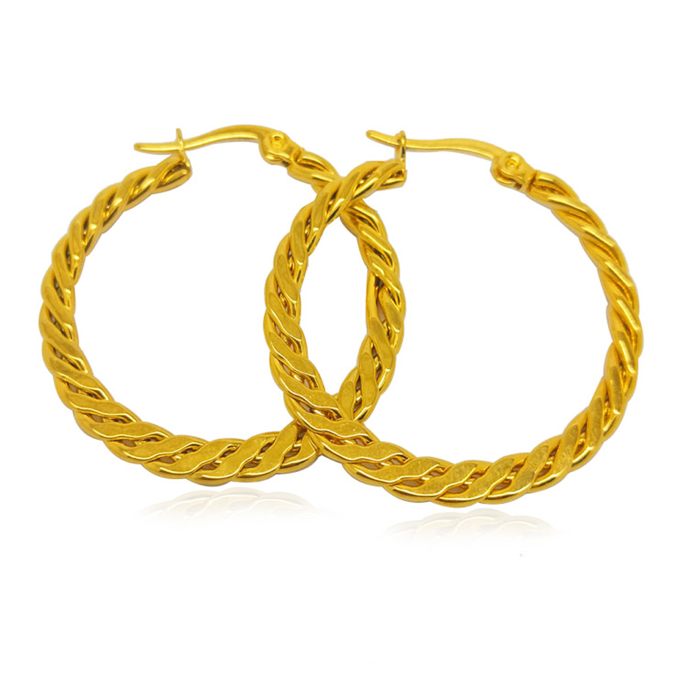 Olivia New Fashion Irish Celtic knot Hoop Earrings 14kt Yellow Gold Jewelry Dropshipping Earrings Women Vintage
