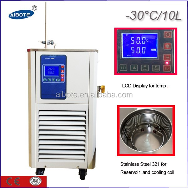 10L,-30 degree Thermostatic refrigerated circulating bath /water chiller