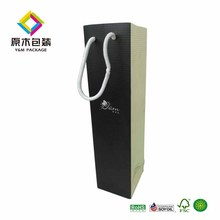 Wholesale single wine glass bottle gift bag cardboard paper packaging shipping carton wine bag