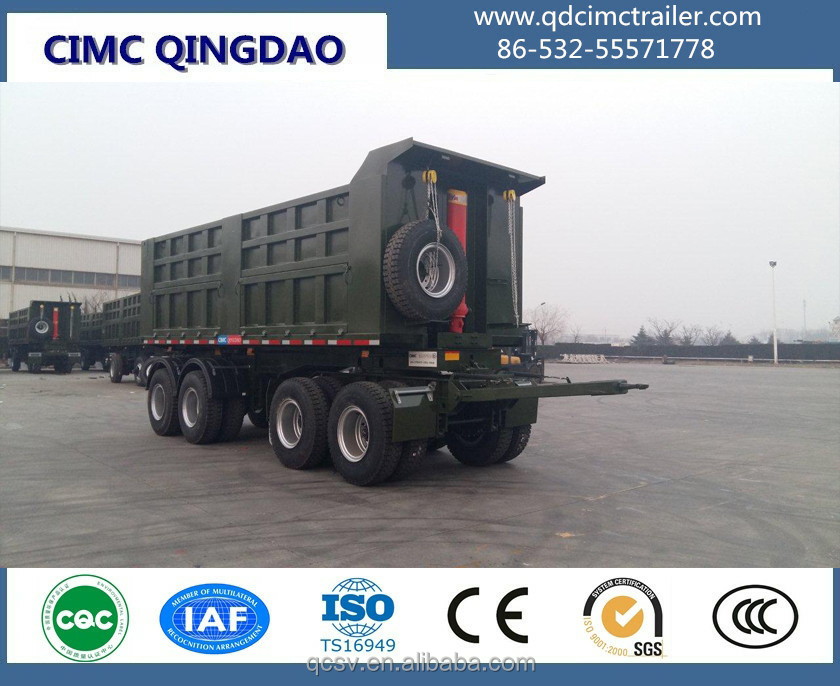 27CBM Full Tipping Trailer with Four Axles
