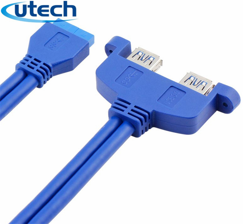 1//3PC USB 3.0 Type A Male to Type A Male 6FT 0.6m Extension Data Sync Cord Cable