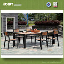 Garden teak set table chair