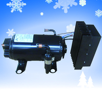 truck mounted compressor for cooling refrigeration unit for cargo van 12v battery aircon kits