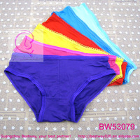 Feel soft touch plain bright color cheap panties