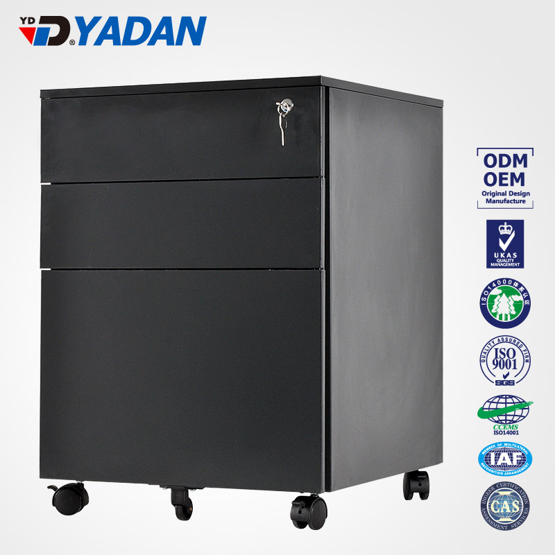 YADAN FACTORY SUPPLIER japanese office furniture 3 drawers mobile cabinet filing