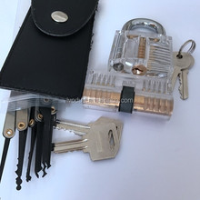 24-Piece Unlocking Lock Pick Set Key Extractor Tool and Transparent Practice Padlocks