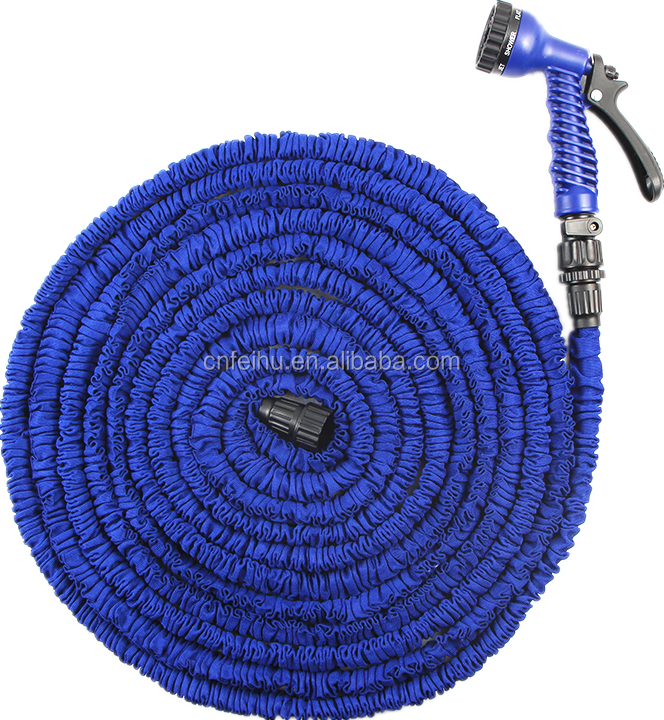 Product of 100 ft retractable flexible expandable garden hose set with solid brass