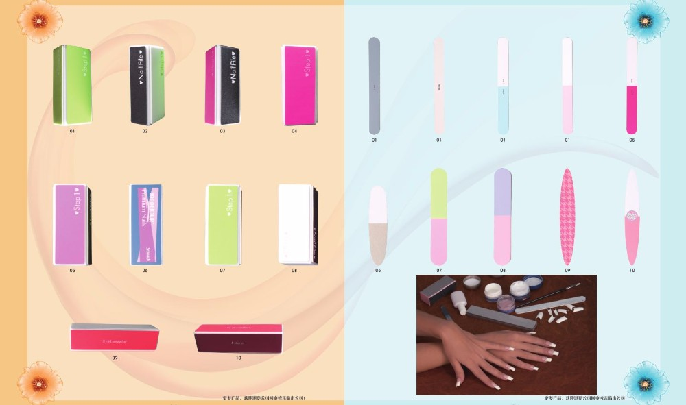 EVA shimmering powder nail file customized manicure tools polish sanding daily care