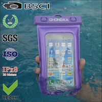 waterproof mobile phone bag/waterproof cell phone bag cover/pvc waterproof phone bag