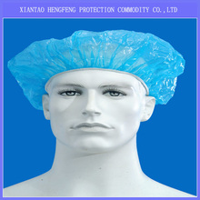 New Products disposable PE Plastic round shower cap