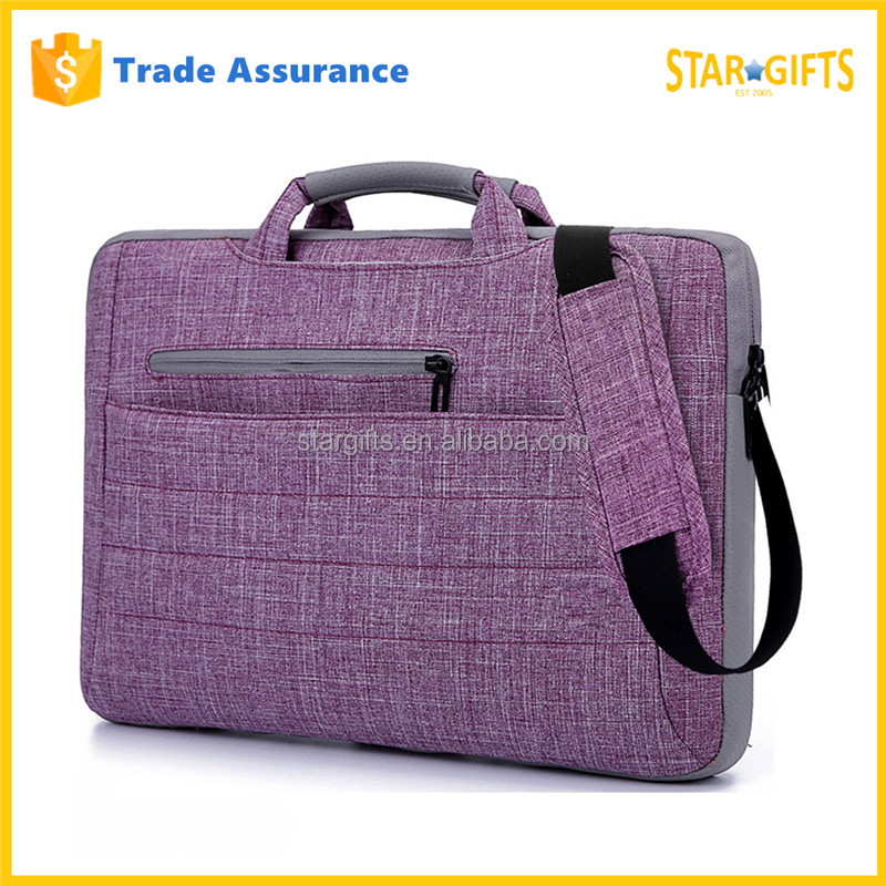 15.6 Inch Multi-Functional Purple Computer Laptop Shoulder Bag For Business