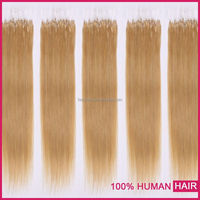 2015 Alibaba express soft truly brazilian micro bead human hair extensions with turkey
