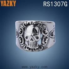 Unique design 316L stainless steel jewelry skull ring biker ring