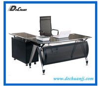 office glass table desk with iron legs small cabinet glass desk