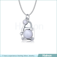 new unique design key lock 925 sterling silver pendant wholesale/supplier