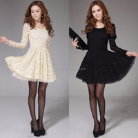 2014 korean style sexy new fashion lady lace cocktail ball gown party mini dress