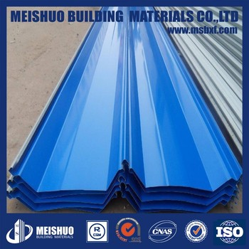 Waved Corrugated Metal Roofing Sheet