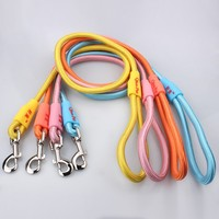 High Quality Nylon Solid Color Strong Metal Buckle Fastener Customized Logo Rope Dog Leash Wholesale