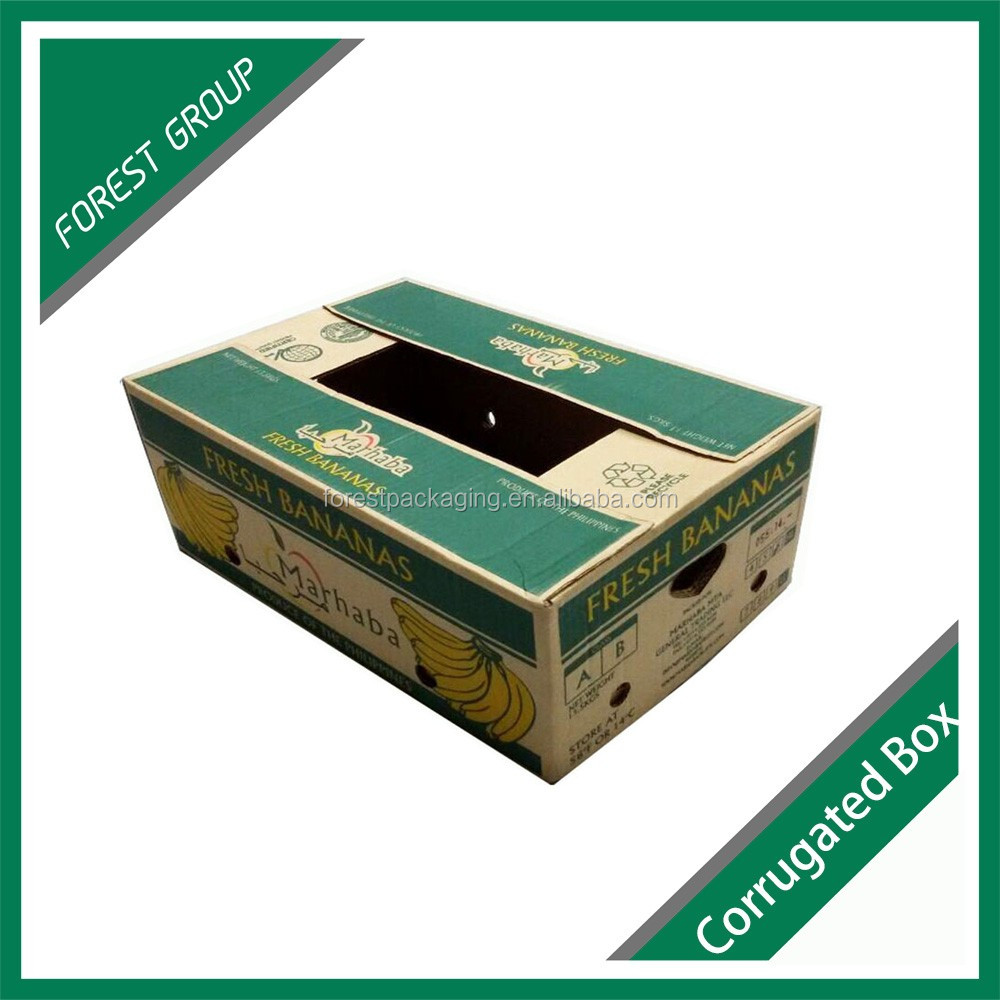 FUIT AND VEGATABLE CARTON CORRUGATED BOX WITH WAXD INSIDE