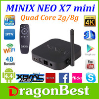 Hot MiNix tv box Quad Core 4k Andriod 4.4 Minix Neo X7 RK3188 SET top Box 1.6GHz 2GB RAM 8GB ROM MINIX X7