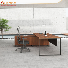 High quality modern metal frame thickness desktop executive office furniture desk