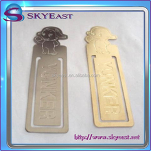 High Quality Custom Etched Logo and Pattern Metal Bookmark