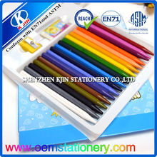 drawing pencil crayons sets for children /economic pencil crayons sets/ shaped pencil crayons sets
