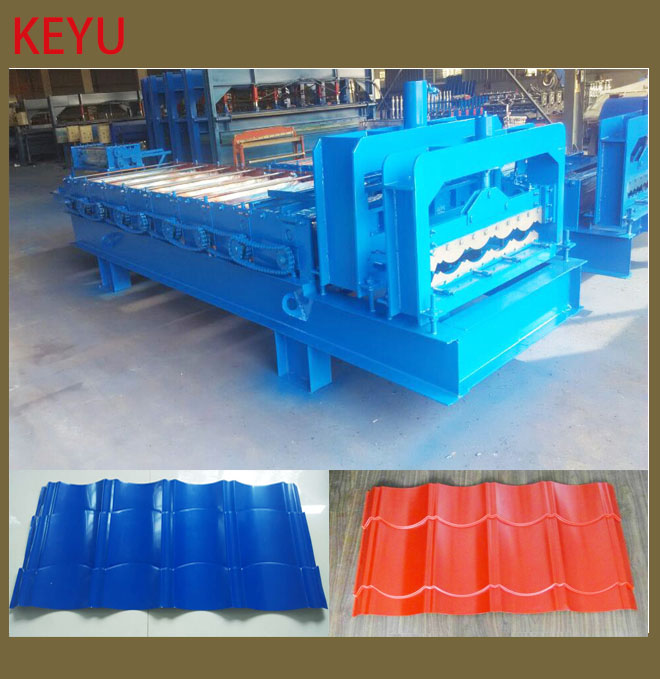 roof and wall color sheet roll forming machine include glazed tile